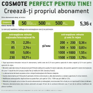"""""""Perfect pentru tine"""" de la Cosmote"""