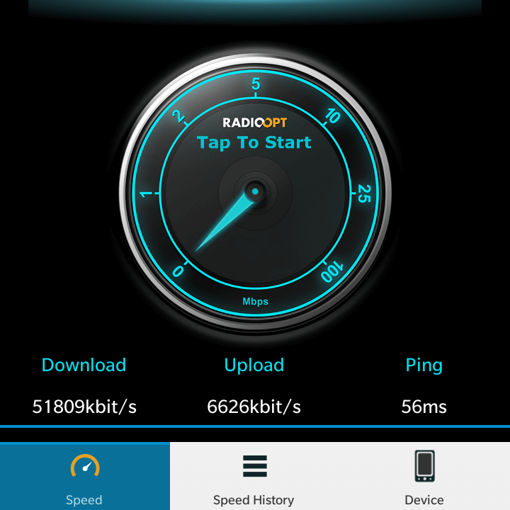 Speedtest-blackberry-q20